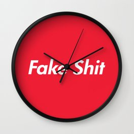 Fake Shit (Supreme Rip-Off) Wall Clock