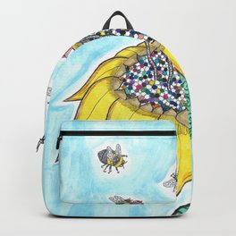 Bees at Work in Blue Backpack