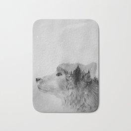 Wolf (B&W) Bath Mat