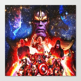 fight her severe heroes Canvas Print