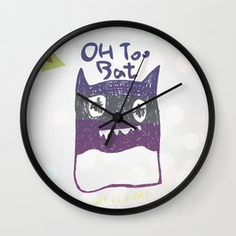 OH TOO BAT-2 Wall Clock