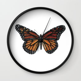 Mystical monarch butterfly Wall Clock