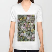 succulents V-neck T-shirts featuring Succulents by Tiffany Tremaine (birdy)