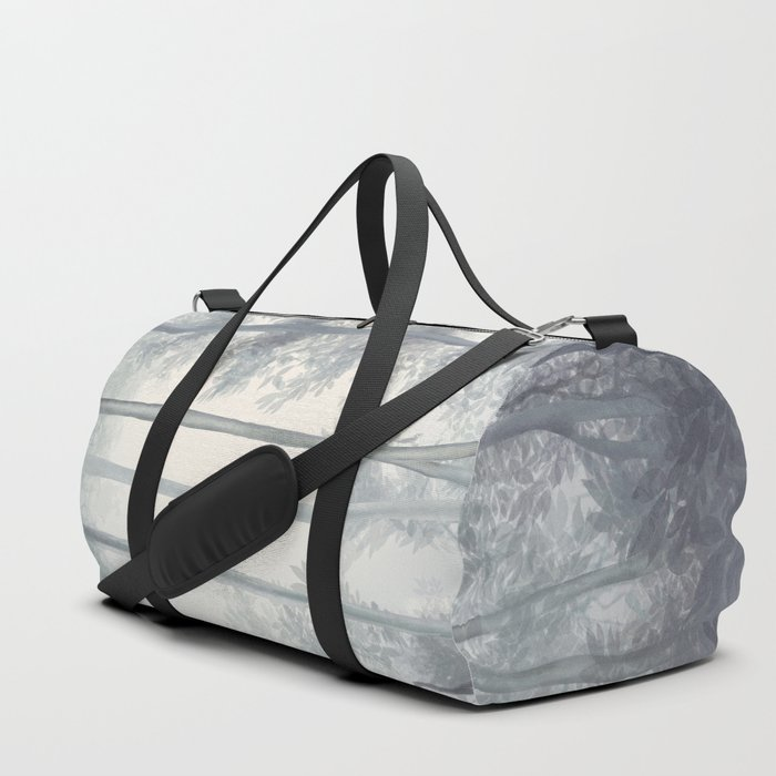Frozen Fog in the Forest Duffle Bag