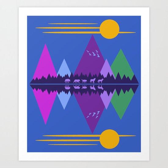 Wolf Pack Passage Art Print