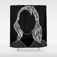 poker Shower Curtains featuring Poker Face by Laura Moreau