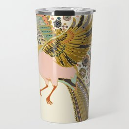 Orange stocking bird Travel Mug
