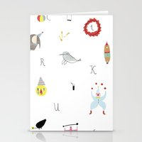 circus Stationery Cards featuring circus by agata krolak