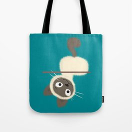 Funny Siamese Kitten upside down Tote Bag