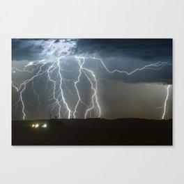 Lightning Cluster Canvas Print