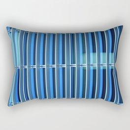Metal Against Glass, City Textures, Grand Canal, Dublin, Ireland Rectangular Pillow