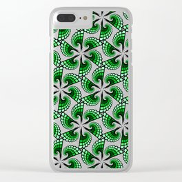Beautful whirling green spirals Clear iPhone Case
