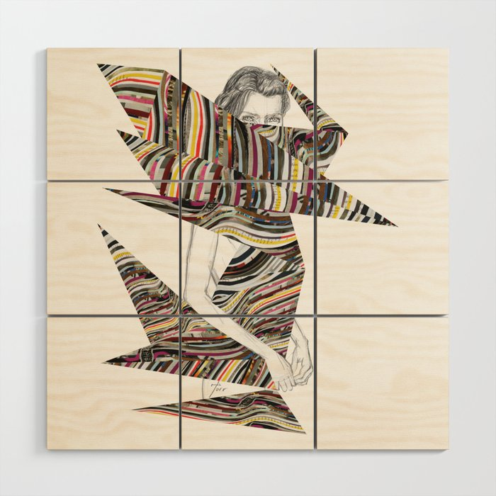Origami Girl Wood Wall Art By Torr