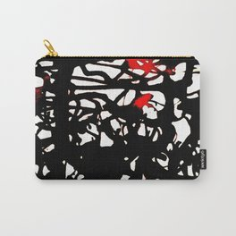 black tangle Carry-All Pouch