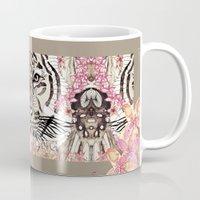 tiger Mugs featuring TIGER by Monika Strigel