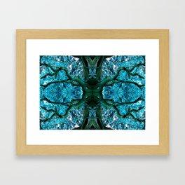 Cobalt Limbs Framed Art Print
