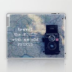 travel the world with an old friend Laptop & iPad Skin
