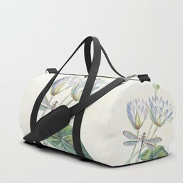lotus and dragonfly Duffle Bag