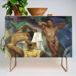 Young Bathers by George Pauli Nude Male Art Credenza
