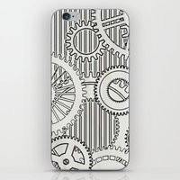 stark iPhone & iPod Skins featuring Stark Gears by Samantha Lynn