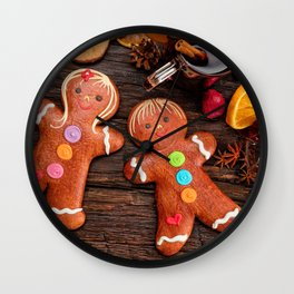Picture New year Star anise Illicium Cinnamon Food Wall Clock
