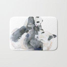Mother and Baby Panda Bears Bath Mat