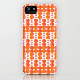 Uende Sixties - Geometric and bold retro shapes iPhone Case