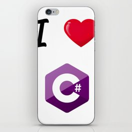 I love C# - I love csharp iPhone Skin