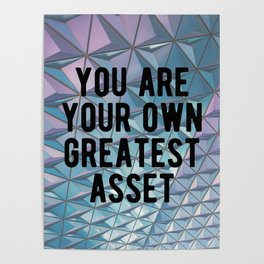 Motivational - You Are Your Own Greatest Asset Poster