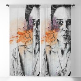 Everything, Everything   expressive sexy female portrait Blackout Curtain