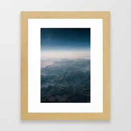 behind mountains more mountains Framed Art Print