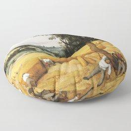 The Harvesters by Pieter Bruegel the Elder, 1565 Floor Pillow