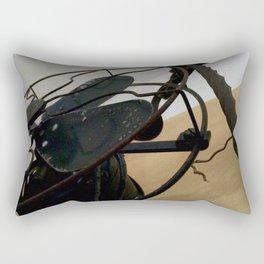 Antique fan and candlestick Rectangular Pillow