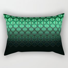 Future Scales Green Rectangular Pillow