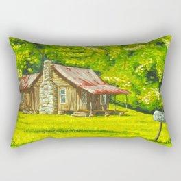 Old Cabin, Blue Ridge Mountains Rectangular Pillow