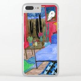 Desert Bedroom Clear iPhone Case
