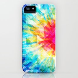 GEOMETRIC TIE DYE (Rainbow, Multi color) iPhone Case