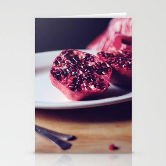 pomegranate, 2 Stationery Cards