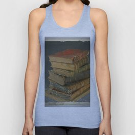 GRUBY SHABBY CHIC ANTIQUE LIBRARY BOOKS Unisex Tank Top