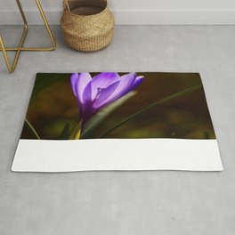 Bright Purple Spring Crocus #decor #society6 #buyart Rug