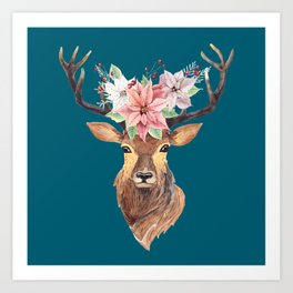 Winter Deer IV Art Print