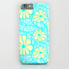 Summer Flowers in Blue iPhone 6s Slim Case