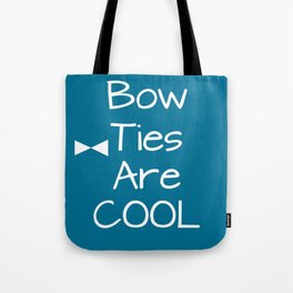DOCTOR WHO Bow Ties Are Cool Teal Tote Bag