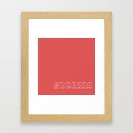#DE5555 [hashtag color] Framed Art Print
