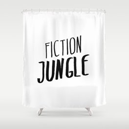 Fiction Jungle Book Blog Logo Shower Curtain