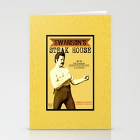 parks and recreation Stationery Cards featuring Ron Swanson  |  Steak House Parody |  Parks and Recreation by Silvio Ledbetter
