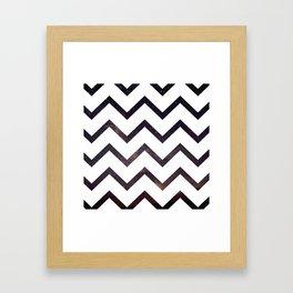 Galactic-Zag Framed Art Print