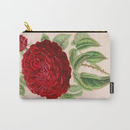 Rose Victor Trouillard Vintage Botanical Floral Flower Plant Scientific Carry-All Pouch