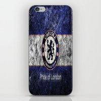 chelsea iPhone & iPod Skins featuring CHELSEA by Acus