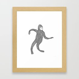 Bigfoot Doing The Wave Framed Art Print